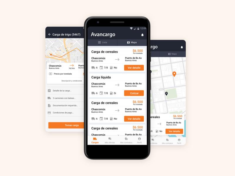 🚚 🚛📦Avancargo freights shipping transport startup ui ux app
