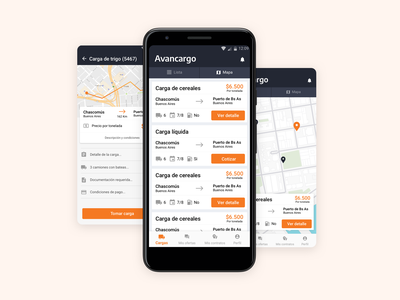 🚚 🚛📦Avancargo freights shipping transport startup ui ux app