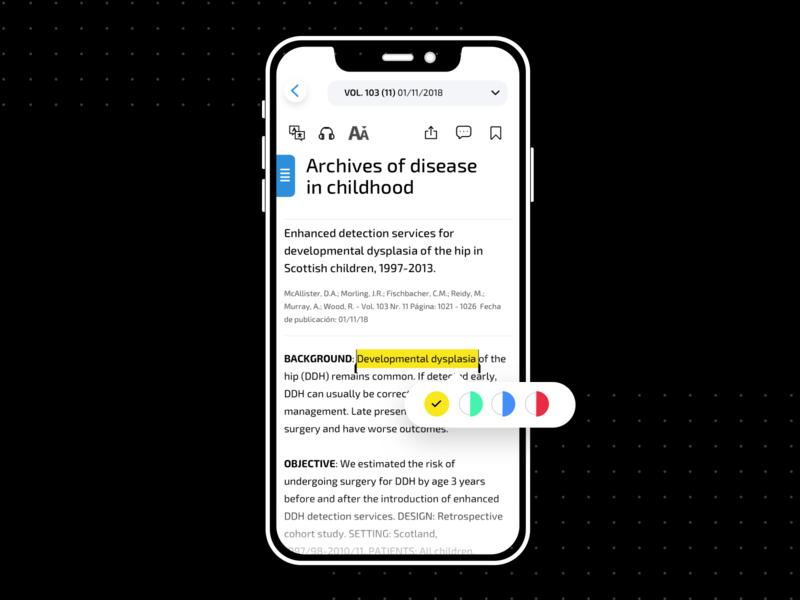 ✏️Text Highlight Widget tool highlight article widget edition text interface design ux
