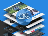 Themepie | Free One Page PSD Web Template