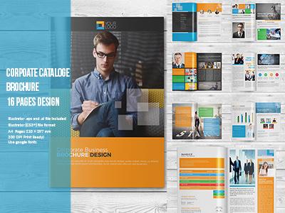 Corporate Brochure / Catalog proposal expert freelancer designer graphicriver creativemarket illustrator print template corporate brochures cataloge template brochures