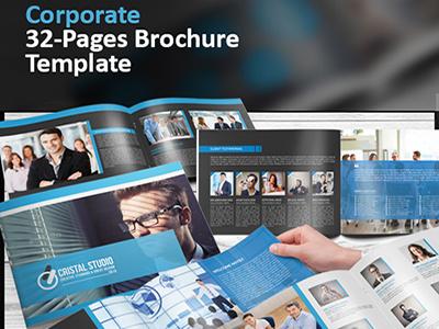 32 Pages Corporate Catalog/Brochure brochure designer freelancer designer graphicriver landscape bi-fold illustrator print design multipages cataloge brochures corporate