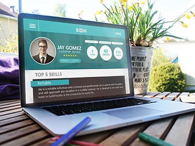 Applicant Profile popular best shot winner 99designs web development project boon app web template mobile app profile