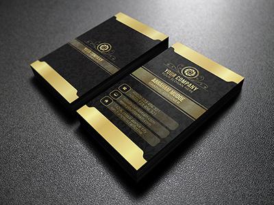 Royal Business Card business card designer illustrator format retro logo retro business card logo creative gold  dark gold business card gold elegant business card creative business card business card