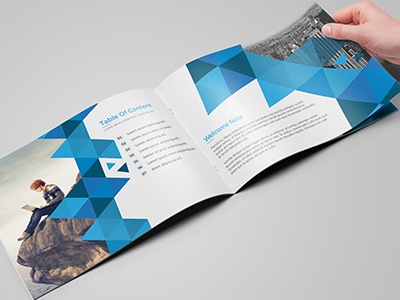 A5 Business Brochure/Catalog typography project professional product blue brochure abstract brochure a5 12 pages clean brochure