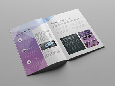 A4 Abstract Brochure-16pages professional modern graphic river elegant new short corporate company profile brochure a4 designer company profile template brochure