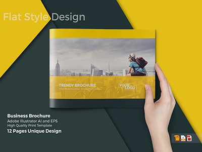 A4 Business Brochure Template presentation work creative market catalog cristal-p graphicriver a4 designer company profile graphic print template brochure