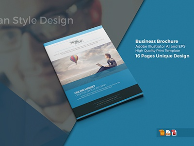 Company Present Catalog/Brochure professional  template new short modern brochure graphic river elegant brochure corporate company profile a4  brochure designer blue