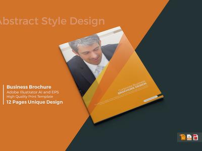 A4 Abstract Brochure abstract design dribble freelancer graphicriver creative market presentation creativity latest shot new design brochure
