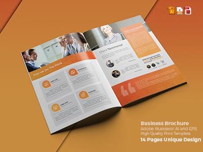 Clean Brochure Template brochure new design latest shot creativity presentation creative market graphicriver freelancer dribble abstract design