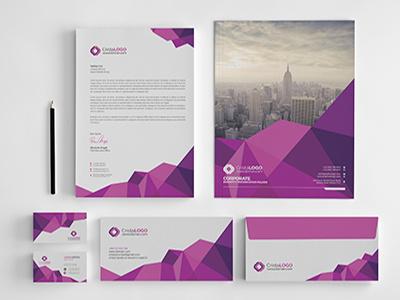 Branding Stationery popular new shot print design invoice abstract mockup letterhead identity stationery design branding