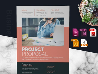 Project Proposal indesign template school brochure minimal identity corporate proposal business proposal business brochure design branding proposal brand agency proposal a4