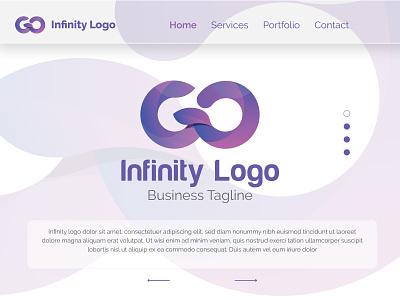Infinity Idea Logo w letter logo concept logo design logotype loop infinite logo infinite template interface uidesign identity brand branding logo multipurpose logo illustration stylish logo gradient logos infinity