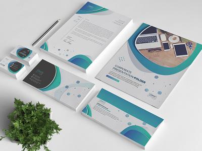 Branding Stationery business card presentation folder envelope invoice letterhead shot creative market template corporate graphic design print design identity vector branding stationery