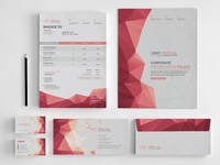 Geometrical Stationery Vector