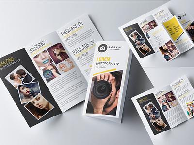 Photography Trifold Brochure agency brochure new shot illustrator minimal photography brochure minimalist brochure trifold mockup portfolio brochure trifold brochure template photography photography brochure wedding trifold