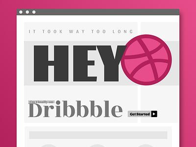 Dribbble Debbbut flat ux web design web design