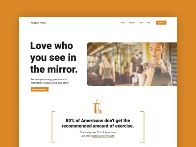 Gym Website Design — Homepage Hero hero homepage gym design web design