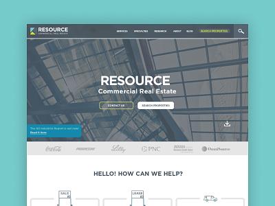 Real Estate — Hompage Design photoshop design web real estate website hero web design homepage
