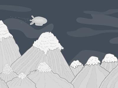Mountains blimp mountains
