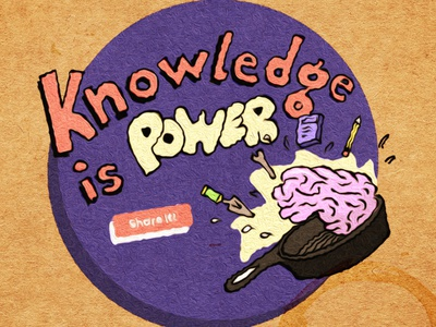 Knowledge is power. Share it. illustration thinkific