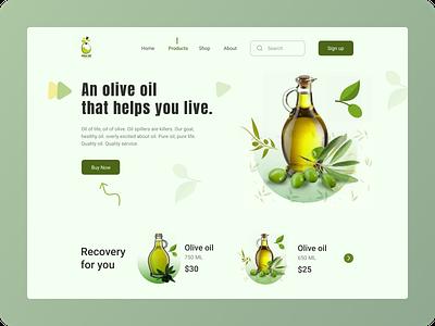 Olive Oil - Header Exploration header exploration header exploration illustration landing page design olive green landing page web oil olive oil olive design webdesign homepage website ui