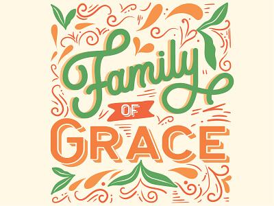 Family of Grace faith illustration design travel typography life shirt christian