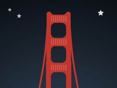 San Francisco's Golden Gate Bridge san francisco golden gate bridge bridge vector illustration