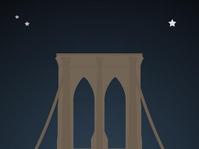 New York's Brooklyn Bridge brooklyn bridge bridge nyc new york city illustration vector