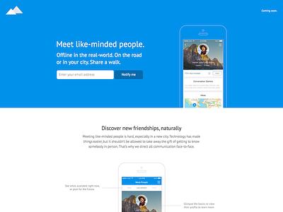 hikewith.me - Website hikewith.me website webdesign flat app landingpage launchpage responsive