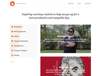My Morning Routine - Archive minimal flat interviews morning routine morning routines my morning routine mmr