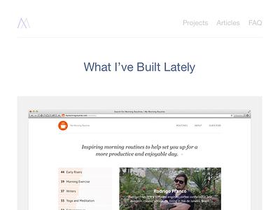 michaelxander.com – Portfolio v4 portfolio website webdesign minimal flat blog