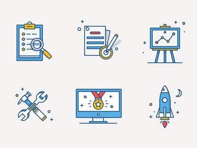 Atlassian Illustrations flat fireart studio fireart note pc rocket illustration
