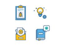 Atlassian Give Feedback Icons