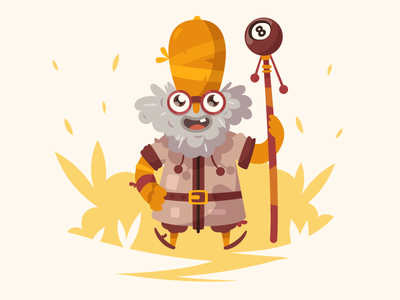 Madman fireart studio fireart pope mage wizard bush man 2d illustration character design