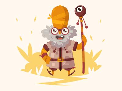 Madman fireart studio fireart pope mage wizard bush man 2d illustration character design