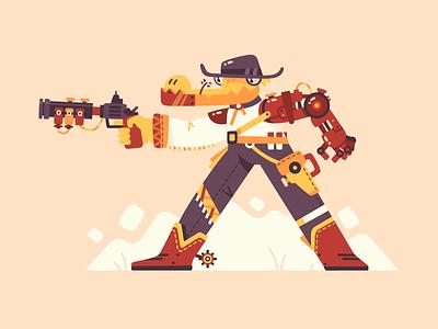 Wild West Croco steampunk west wild desing character illustration 2d