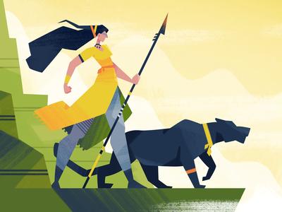 Hunt fireart studio character design 2d illustration