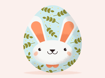 Easter Egg easter egg character design character vector illustration easter bunny rabbit