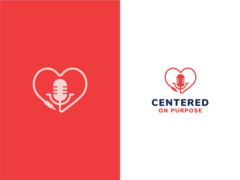 Unused Logo Concept 1 logo pink podcast speaker heart graphic design identity branding design icon red blue vector