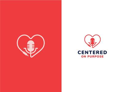 Unused Logo Concept 1 logo pink podcast speaker heart graphic design identity branding design icon red blue vector