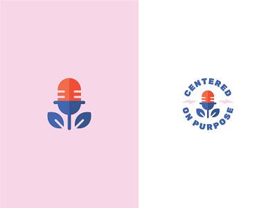 Unused Logo Concept 2 plant logo speaker lightning podcast pink graphic design identity branding design icon red blue vector