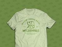 WizeHire Vintage Tee Mockup branding graphic design design mascot wizehire leaf tshirt vintage cartoon green character design character vector illustration