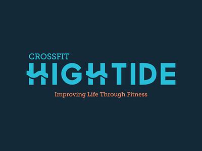 Crossfit Hightide Logo navy blue peach blue navy tide high identity hightide logo branding fitness crossfit