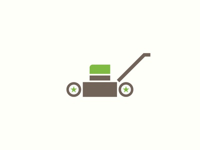 Lawn Mower Icon green branding mower lawn care lawn illustration logo icon vector