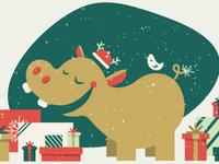 A Hippo Christmas