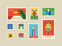 World Postage Stamps 1