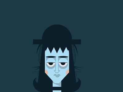 WIP - Lydia fanart beetlejuice halloween blue illustration vector character character design