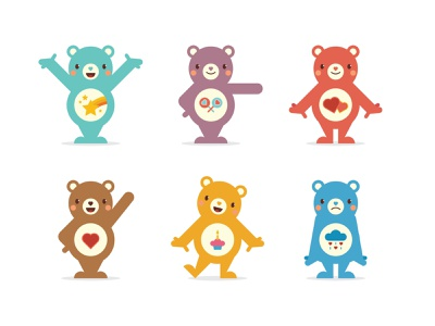 Care Bears 1 design bear illustration character design character vector care bears