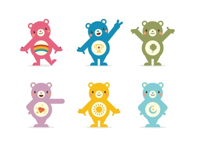 Care Bears 2 bear design vector illustration character design character care bears